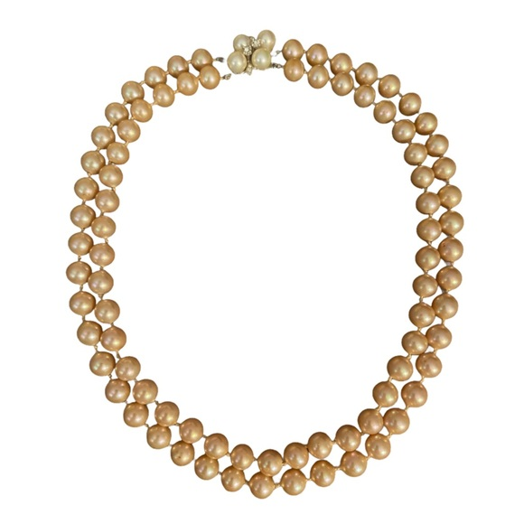 MARVELLA STERLING SILVER FAUX PEARLS NECKLACE